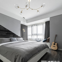 108平现代简约主卧室设计图