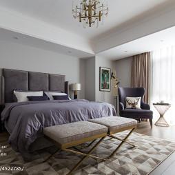 美式轻奢主卧室设计图