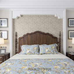 四居美式主卧室设计图片