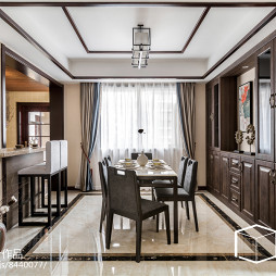 130㎡雅致新中式餐厅设计图片