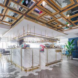 澜茉咖啡厅吧台设计实景图