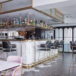 澜茉咖啡厅吧台设计图片