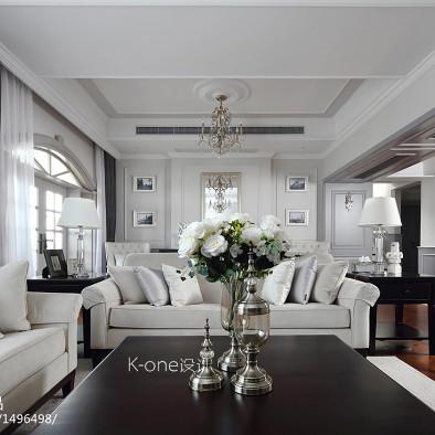 美式别墅客厅沙发设计图片
