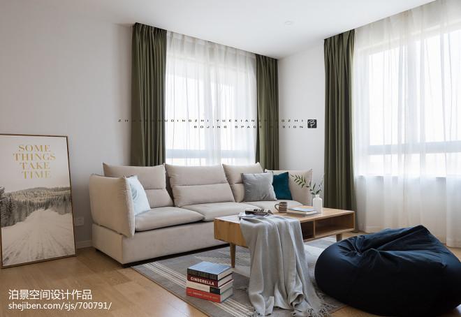 北欧三居客厅沙发设计图