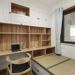 日式三居书房设计实景图