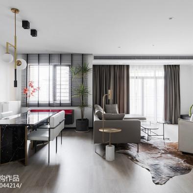 黑白灰现代客厅设计图