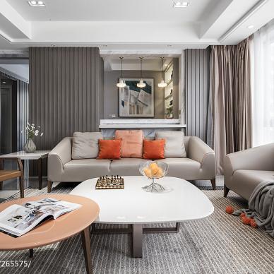 温馨风现代客厅沙发设计
