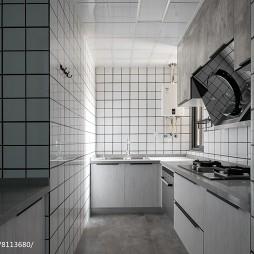 深色系个性厨房设计图