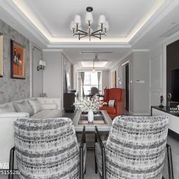 轻奢四居客厅吊灯设计