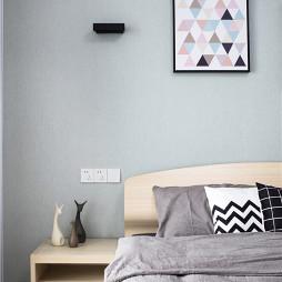 100㎡北欧风卧室挂画设计