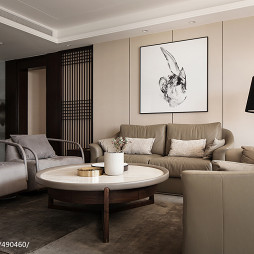 新中式极简客厅设计