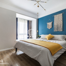 110㎡极致北欧风卧室设计图