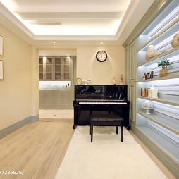 美式别墅钢琴室设计