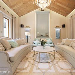 轻奢美式别墅客厅设计