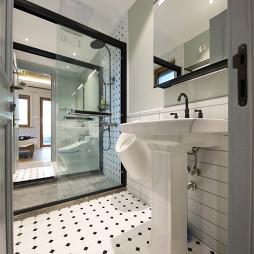 美式别墅卫浴洗手台设计