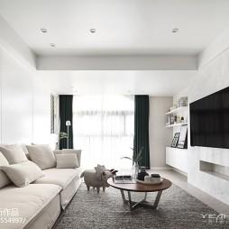 210m²简约风格客厅设计