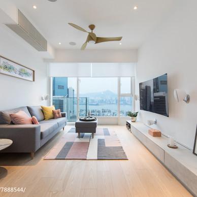 香港鲗魚涌逸樺園簡約客廳設計