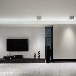 黑灰系现代背景墙设计