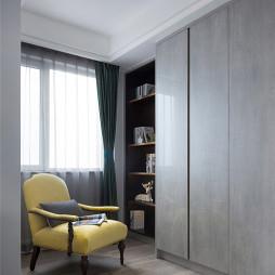 柔和温馨卧室书房设计图