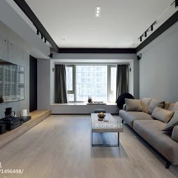 艺术感现代客厅飘窗设计