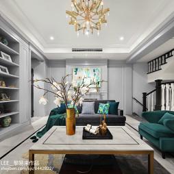 绿影美式客厅吊灯设计
