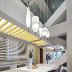 现代别墅餐厅设计实景