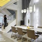 现代别墅餐厅实景图