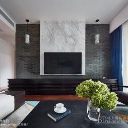 200㎡现代中式背景墙设计