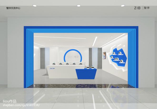 机器人展厅 装修设计效果图 liou设计师作品