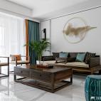 大气中式客厅背景装饰设计
