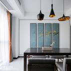 大气中式餐厅背景画设计