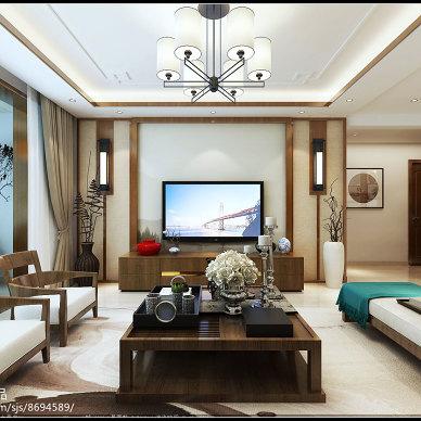 香驰喜园140㎡新中式风格原创案例_3236932