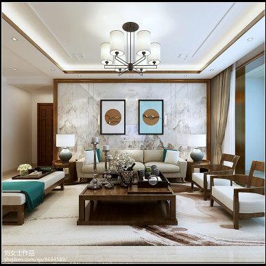 香驰喜园140㎡新中式风格原创案例_3236933