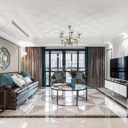 170㎡现代美式客厅设计