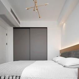108平清新婚房臥室衣柜設計