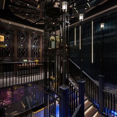 宴西塘餐厅楼梯设计