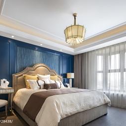 新美式主义卧室设计图