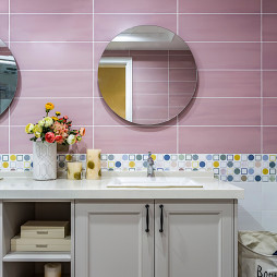 新美式主义卫浴洗手台设计