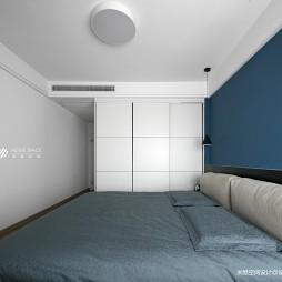 冰川灰现代卧室衣柜设计
