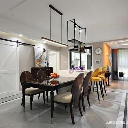 美式三居客厅餐厅设计