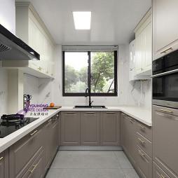 美式三居客廳廚房設計