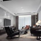 黑白极简客厅设计