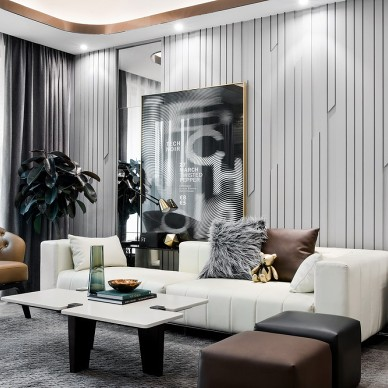 福晟·中山錢隆華府樣板房客廳設計