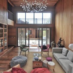 现代自然别墅客厅设计图