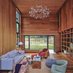 现代自然别墅客厅设计