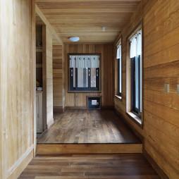 现代自然别墅过道设计