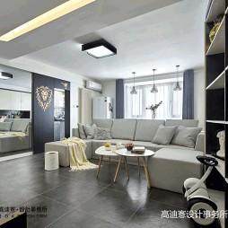 现代小两居客厅隐形门设计