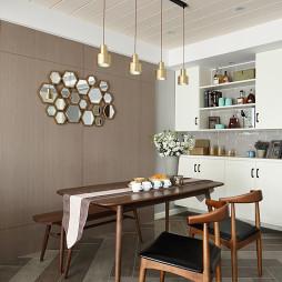 简单北欧餐厅吊灯设计实景图片