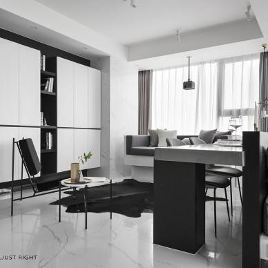 现代小户型客厅储物柜设计