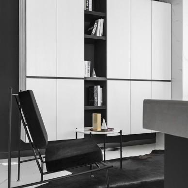 现代小户型客厅储物柜设计实景